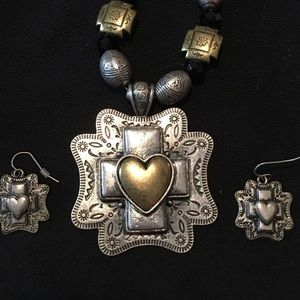 """""""You and I"""" Brand Vintage Necklace and Earrings"""